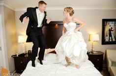 wedding night picture -I SOOOO want to do this! You're wedding day is supposed to be this much fun :)