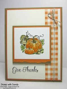 Best of Autumn Pumpkins, PPA174, FM130, TSTR186 by stampwithsandy - Cards and Paper Crafts at Splitcoaststampers