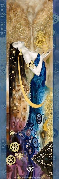 Klimt ---- it looks like but it is Tom Fleming/art nouveau called 'Spirit & Life' Gustav Klimt, Klimt Art, Art Nouveau, Watercolor Canvas, Art For Art Sake, Love Art, Amazing Art, Fantasy Art, Saatchi Art