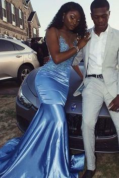 Ice Blue Mermaid Satin Prom Dresses Crew Neck Lace Appliques African Girl Black Girl Evening Formal Gowns sold by Wedding store. Shop more products from Wedding store on Storenvy, the home of independent small businesses all over the world. Black Girl Prom Dresses, Cute Prom Dresses, Prom Outfits, Mermaid Dresses, Homecoming Dresses, Formal Dresses, African Prom Dresses, Lace Mermaid, Lace Dresses