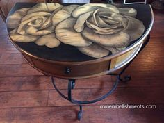 she uses stain to refresh a furniture piece into a piece of art, crafts, painted furniture, shabby chic Repurposed Furniture, Shabby Chic Furniture, Painted Furniture, Painted Wood, Distressed Furniture Painting, Hand Painted, Furniture Makeover, Diy Furniture, Furniture Refinishing