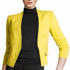 2016 새로운 도착 봄 가을 패션 브랜드 여성 캔디 컬러 여성 코트 슬림 솔리드 퍼프 소매 블레이저 기본 재킷