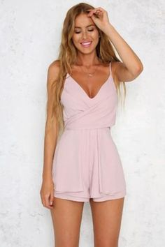 solid pink sleeveless overalls