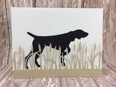 pointing dog card hunting dog card german shorthaired Weimaraner, Vizsla, Border Terrier, Dog Cards, German Shorthaired Pointer, Hunting Dogs, Pointers, Moose Art, Etsy Shop