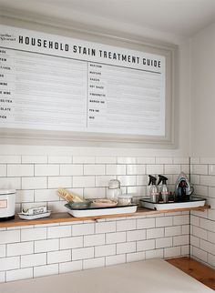 Love this household stain guide for the laundry room! via Manhattan Nest Laundry Room Remodel, Laundry Room Storage, Laundry Room Design, Laundry Room Art, Modern Laundry Rooms, Manhattan Nest, Laundry Room Inspiration, Laundry Signs, Sweet Home