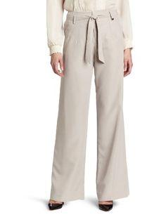 Calvin Klein Women`s Wide Leg Tie Front Pant $89.50