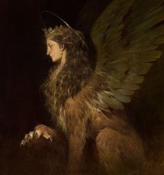 Sphinx majesty👑 Art by Betty Jiang Mythological Creatures, Fantasy Creatures, Mythical Creatures, Desenhos Halloween, Illustration Art, Illustrations, Wow Art, Folklore, Dark Art