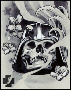 tattoo sketch by Doctor Pepper Art Hub, Dr Pepper, Tattoo Sketches, Tattoo Artists, Artworks, Skull, Darth Vader, Japanese, Studio