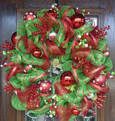 So this is what Christmas would look like if it explodes on your door.