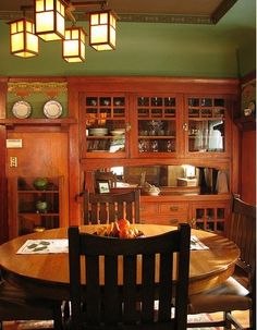 vintage dining room - very close to what i have one day!