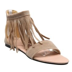 37.57$  Buy here - http://die9o.justgood.pw/go.php?t=184688603 - Simple Suede and Fringe Design Women's Sandals 37.57$