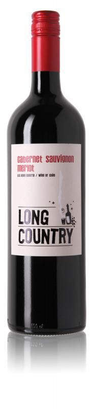 Long Country Cabernet Sauvignon Merlot from Chile. A good structured red wine with aromas of blackberries and cherries, with soft notes of herbs and flowers.