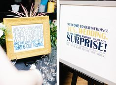 Surprise wedding. I love everything about this.