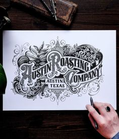 ideas for tattoo fonts vintage typography Types Of Lettering, Lettering Design, Logo Design, Type Design, Typography Drawing, Typography Letters, Creative Typography, Vintage Typography, Typography Inspiration
