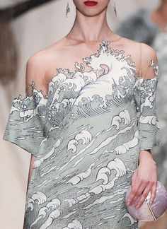 Imagen de fashion, dress, and waves