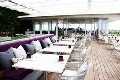Juvia Restaurant in South Beach South Beach, Miami Beach, Miami Restaurants, Higher Design, Outdoor Furniture Sets, Outdoor Decor, Lima, Dining Area, Vanilla