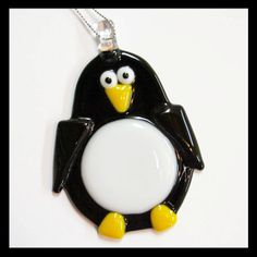 Glassworks Northwest - Penguin - Fused Glass Ornament. $19.75, via Etsy.