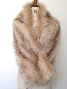 Hey, I found this really awesome Etsy listing at https://www.etsy.com/listing/240841450/champagne-faux-fur-shrug-bridal-fox-fur