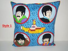 Beatles throw pillow cover 14 1/2 x 15.  by DesignsbyTerriLee