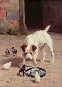 Animaux en peintures Alfred Duke