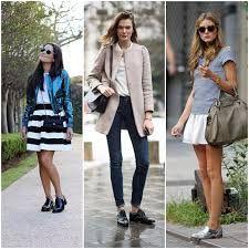 Resultado de imagem para moda feminina com mocassim