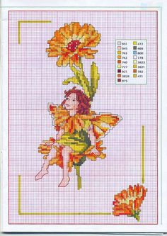 marigold fairie , magazine version. no background and part from original