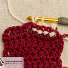 Crochet Post Stitches: How to make the Back Post Double Crochet Stitch - A step-by-step crochet photo tutorial by Shibaguyz Designz