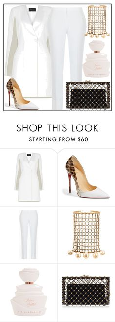 """Untitled #125"" by style-u-fab ❤ liked on Polyvore featuring BCBGMAXAZRIA, Christian Louboutin, Gucci and Charlotte Olympia"