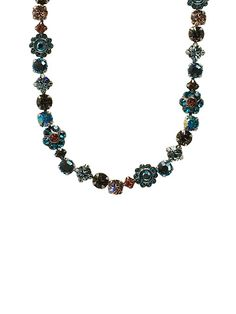 Classic Crystal Floral Necklace in Seasalt by Sorrelli - $167.50 (http://www.sorrelli.com/products/NBE2ASSES)