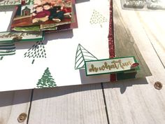 Use different stamps from Fir Real to create a unique, hombre background paper & emboss the set's sentiments on vellum for a rustic holiday sparkle! Paper Background, Stamp, Ink, Create, Holiday, Projects, Blog, Log Projects, Vacations