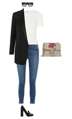 """Untitled #229"" by amyjonez on Polyvore featuring Acne Studios, Gucci, Frame Denim, Yves Saint Laurent and Alexander McQueen"