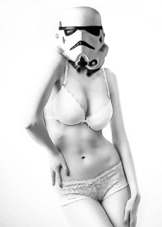stormtrooper star wars science fiction sexy woman black white geek nerd Celebrities