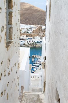Greek Island Dream: Astypalaia Visit Greece, Holiday Places, Supper Club, Greece Travel, Greek Islands, Homeland, Beaches, Perspective, Boats