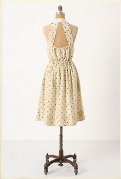 Back details of Anthropologie's bee dress