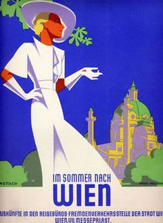 Im Sommer Nach Wien by Wettach | Vintage Posters at International Poster Gallery