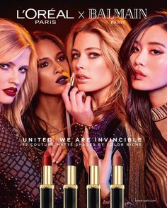 COUTURE TRIBE COLLECTION, 2017 | LOREAL X BALMAIN. Capsule collection of 12 couture matte shades by Color Riche, designed for every complexion.