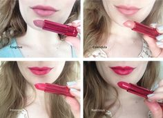 100 Percent Pure New Pomegranate Lipsticks review + swatches 4