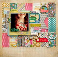 Gorgeous layout created by Nicole Nowosad using our Simple Stories Vintage Bliss 6x6 pad