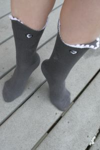 Shark Bite 3-D Socks! These are so boss!!!! http://www.sockdreams.com/products/shark-bite-3-d-socks?v_id=1977&wi_id=33443