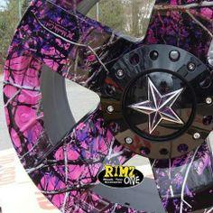 Muddy Girl camo wheels. Awesome!