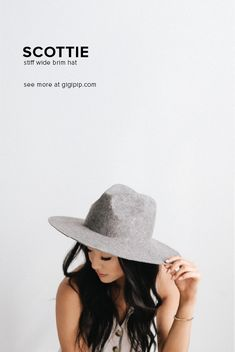 9cc6b0dfde5f60 Wool Felt, Felt Hat, Wide-brim Hat, Wide Brim Fedora, Wide