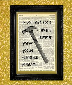 Hammer Print for the DIY Guy or Gal  Dictionary by TheMuckyDuck