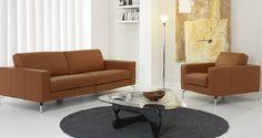 Contemporary sofa / leatherette ABRATH Gamamobel