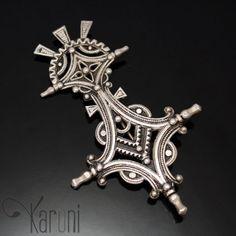 Broche kabyle berbère Croix du Sud - argent