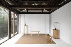 """""""Twisting courtyard"""" house is located in Paizi Hutong, Dashilar Area, Beijing. It used to be a Siheyuan house with one single entry. Chinese Courtyard, Courtyard House, Space Architecture, Chinese Architecture, Peking, Design Furniture, Home And Living, Living Room, Interiores Design"""