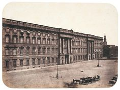 The Berlin city palace on the Unter den Linden boulevard, taken between 1856 and 1858 by the photographer Leopold Ahrendts. The city plans to rebuild the palace, which was heavily damaged in World War II and then torn down by the communist East German authorities.