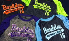 Check out these awesome performance baseball tees for Boulder Country Club! Printed on @badgersportofficial moisture wicking tees #skazma #screenprint