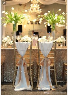 2015 Ivory Chair Sash For Weddings With Big Flowers Chiffon Delicate Wedding Decorations Chair Covers Chair Sashes Wedding Accessories 07 From China Chair ... & 53 best Unique Chair Sash Ideas images on Pinterest | Wedding chairs ...