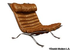 Vintage Leather Lounge Chair by Arne Norell