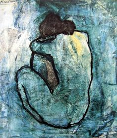 The Blue Period of Picasso is the period between 1900 and 1904, when he painted essentially monochromatic paintings in shades of blue and blue-green, only occasionally warmed by other colors.